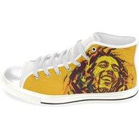 Bob Marley / high tops / Rasta shoes / high top shoes for men / Canvas Hi Top Shoes / Bob Marley tribute - Bob Marley Gifts