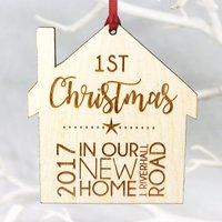 New home Christmas tree decoration, Christmas Tree Decoration, Personalised Decoration,house warming gift, My 1st Christmas in our new home, - Warming Gifts