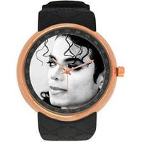 Rose Gold Michael Jackson Singer Watch Luxury Quality Scratch and Water Proof - Michael Jackson Gifts