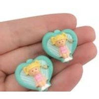Vintage 1990s Bluebird Polly Pocket Clip on Earrings New In Packet Rare HTF Collectible 90s Toys - Polly Pocket Gifts