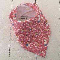 Bandana Dribble Bib  Nursery characters pink - Nursery Gifts