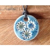 Essential Oil Pendant Diffuser Large Flower Pendant  Aromatherapy Jewellery  Handmade in UK  buy 2 get 1 free - Aromatherapy Gifts