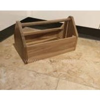 Sturdy Acacia Fruit/Tool Toy Box Crate  Ideal for Beverages, Spices or Cutlery - Cutlery Gifts