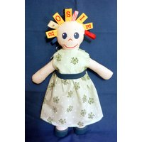 Taggy Doll  Personalised with your childs name  Taggie  soft toy - Soft Toy Gifts