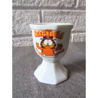 Garfield Egg Cup. Vintage Garfield Egg Cup. Good Morning Egg Cup. Garfield The Cat. Cartoon Cat Egg Cup. Collectable Egg Cup. - Garfield Gifts