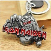 Fashion Iron Maiden British Rock Band Badge Pendant Keyring - Iron Maiden Gifts