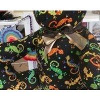 Teddy Bears. Gekco 15 sitting hight. soft, handmade, cotton mix fabric. Various patterns. - Teddy Bears Gifts