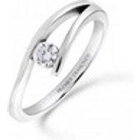 Modern channel set round brilliant cut diamond engagement ring 0.16 carat  Engagement Ring - Engagement Ring Gifts