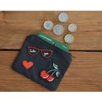 Rockabilly coin purse  cherry purse, rockabilly gift, money pouch, card wallet, storage pouch, alternative gift for her, gifts for women - Money Gifts