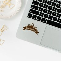 Wanderlust Sticker, Trackpad Decal, MacBook Sticker, Apple MacBook, Laptop Decal, Trackpad Sticker, Laptop Sticker, Touchpad Stickers - Computers Gifts