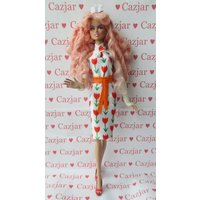 Handmade by Cazjar Jem and the Holograms Integrity Doll Fashion Jem Hawaiian Tulip Dress - Hawaiian Gifts