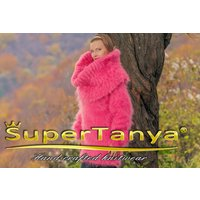 Fuzzy candy pink mohair sweater dress by SuperTanya - Seek Gifts