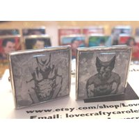 Wolverine Recycled Square Comic Postcard Cufflinks  Celebrate Unique, Embrace Geek - Wolverine Gifts