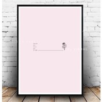 Beauty and the beast print, Disney princess inspired, Beauty and the beast wall decor, Minimal pink wall art, Pink princess prints wall art - Disney Princess Gifts