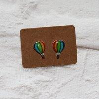 Hot Air Balloon Earrings, Teeny Tiny Earrings, Flying Jewelry, Cute Earrings - Hot Air Balloon Gifts