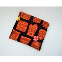 Make up bag, hawaiian fabric, hawaiian print, tiki bar, cosmetic bag, kitsch gifts, tiki gifts, retro prints, hawaiian gifts, secret santa - Hawaiian Gifts
