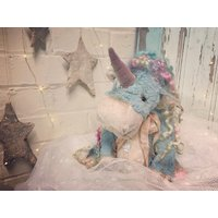 ReservedJoy the OOAK unique artist teddy bear vintage collectable unicorn doll - Artist Gifts