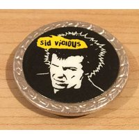 Vintage Sid Vicious Sex Pistols Badge - Sex Pistols Gifts