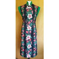 Vintage 1950s inspired hibiscus Hawaiian tea timer wiggle dress S only rockabilly VLV - Hawaiian Gifts