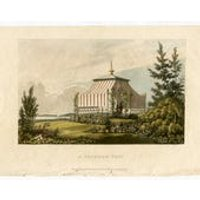 Garden Architecture Print, A Venetian Tent by John Papworth, Architect, and Artist, Published by R. Ackermann. 1820 Hand Coloured Aquatint. - Artist Gifts