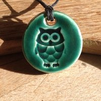 Little Owl Essential Oil Pendant Bird Diffuser Pendant Aromatherapy Necklace Jewellery  Handmade in UK - Aromatherapy Gifts