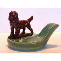 1950s Wade Porcelain Tobacco Pipe Rest. Red Setter Dog Model. Pipe Smoking Accessories. Pottery Pipe Stand. Tobacciana. Christmas Gifts Men. - Smoking Gifts