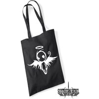 Gothic tote bag, emo bags, voodoo doll, naughty angel, dark gothic design - Voodoo Doll Gifts