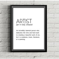 Artist Print, Artist Gifts, Artist Wall Decor, Artist Wall art, Digital Download, Instant Download, Print for the office, Print for the home - Artist Gifts
