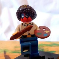 Deadpool Ross  Bob Ross Deadpool 2 trailer crossover mash up cosplay artist painter compatible with Lego bricks blocks minifigure - Artist Gifts