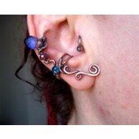 Sparkly glass fairy earcuff, elven earcuff, copper earcuff, fantasy earcuff - Fairy Gifts