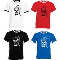 Lady GAGA Skull  Adult Ringer TShirt  All Sizes  Colours - Lady Gaga Gifts