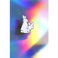 Banging Bunnies // funny evil rabbit sex adult meme Tumblr 90s enamel pin badge 80s pingame - Sex Gifts