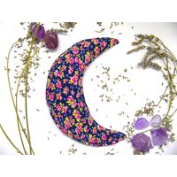Handmade natural herbal sleep  dream pillow with organic lavender petals crescent moon floral design aromatherapy - Aromatherapy Gifts