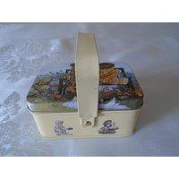 Oscar and Bertie mini basket tin teddy bears - Teddy Bears Gifts