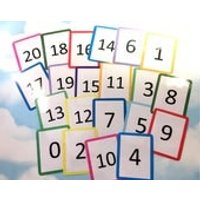 Number flash cards 020, KS1, Teaching resource, Educational toy, Number cards, Visual learners, counting, numeracy, count to 20 - Educational Gifts