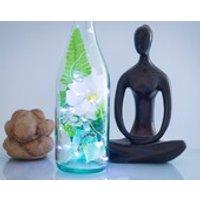 Bottle Light, Turquoise Gifts, Aqua Room Decor, Bathroom Lighting, Bath Candles, Relaxing Art, Zen Gifts, Atmospheric Lamp, LED Fairy Lights - Seek Gifts