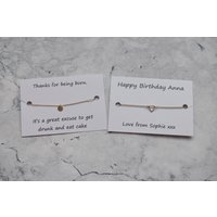 Personalised Birthday Bracelet, Unique Personalised Birthday Gift, Choice of Wording, Gift For Her, Personalised Jewellery, Sentimental Gift - Sentimental Gifts