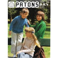 childrens aran sweater knitting pattern pdf childs cable jumper round or polo neck 2430 DK light worsted 8ply pdf instant download - Polo Gifts