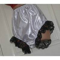 EE 21  Soft satin big silky panties, frilly  lacy sissy wear, to 38 waist,  Sissy Lingerie - Lingerie Gifts