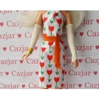 Handmade by Cazjar Jem and the Holograms Hasbro Doll Fashion Jem Hawaiian Tulip Dress - Hawaiian Gifts
