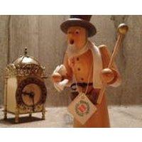 Vintage German Erzgebirge Smoking Wooden Incense Man still with ORIGINAL labels // hand carved collectible German Raucherman in fine clothes - Smoking Gifts