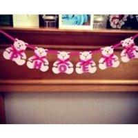 Baby bear bunting, Personalised bunting, Nursery Decor, Bedroom Decor, New baby gift, Christening gift, wooden bunting, teddy bears - Teddy Bears Gifts