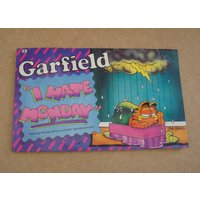 Vintage 1988 Garfield I Hate Monday By Jim Davis, Comic, Fiction, Retro, Illustrations, Humour, Comedy, TV, Cat, Pet, Collectibles, Gift,Dad - Garfield Gifts