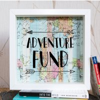Travel Gift // Adventure Fund Frame // Our Adventure Awaits // Money Frame Box // Travel Gift // Map Gift // Piggy Bank // Holiday Fund // - Money Gifts