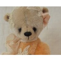 PEACHES artist teddy bear 5 tall - Artist Gifts