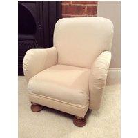 Childs Armchair  Cream Velvet Small Chair  British Bespoke Furniture Handmade for Nursery Bedroom - Nursery Gifts