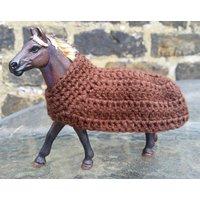 Schleich horse blanket Schleich horse accessory Schleich mustang stallion horse Toy horse cover Neck cooler rug Horse figure tack Schleich - Schleich Gifts