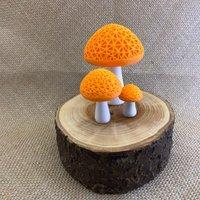 3D Multicoloured Mushroom Light (Orange) - Mushroom Gifts