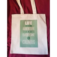 Adventure bag, travel bag, life is an adventure, travel gift, Elliott Freeman quote bag, cotton tote bag, canvas shoulder bag, shopping bag - Shoulder Bag Gifts