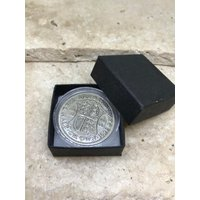 90th birthday gift 1928 Half Crown boxed with coin capsule - 90th Birthday Gifts